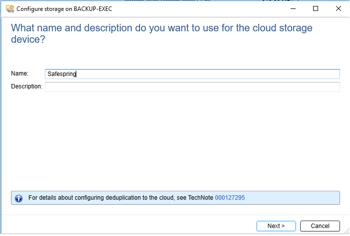 Configure Cloud Storage